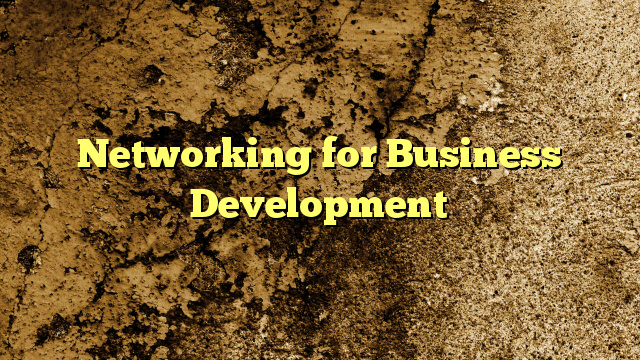 Networking for Business Development