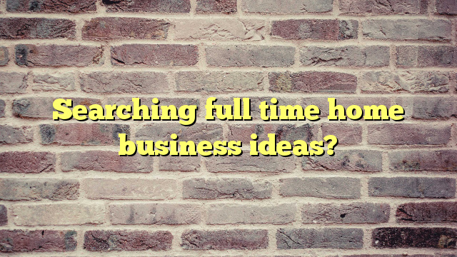 Searching full time home business ideas?